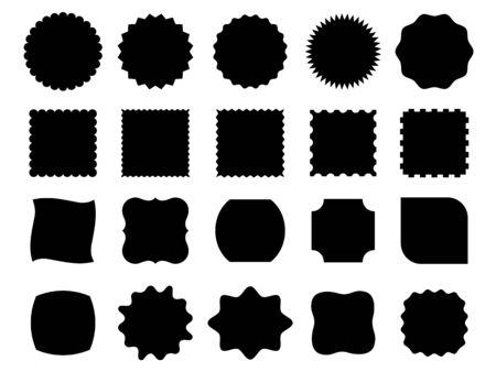 Black vector shapes Çizim