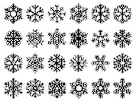 Set of snowflakes Çizim