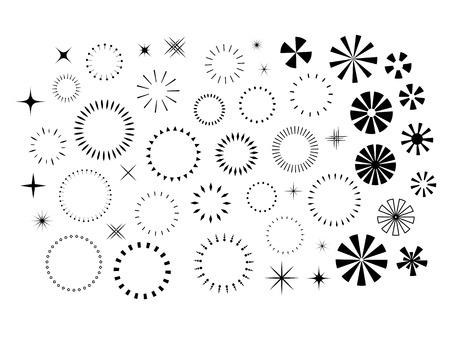 starbursts: Sparkles and Starbursts set Illustration