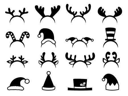 Set of christmas hats