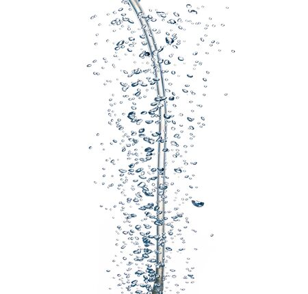 Underwater bubbles isolated on white background Banque d'images