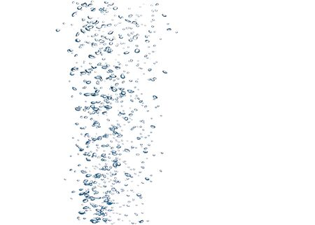 Underwater bubbles isolated on white background Banque d'images - 136413715