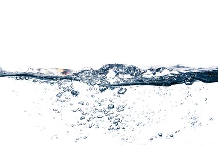 Underwater bubbles isolated on white background 写真素材