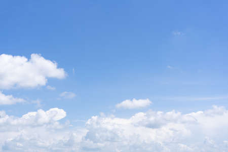sky in summer with white cloud background.