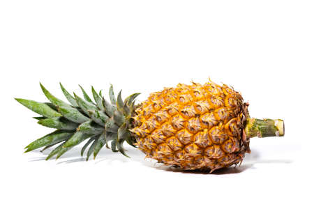 Big fresh single pineapple isolated on the white background. Reklamní fotografie