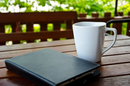 coffee and tablet Stock Photo - 21424815