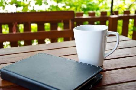 coffee and tablet Stock Photo - 21424817