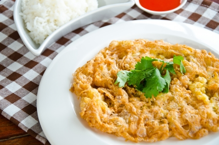Omelet is popular food in Thailand