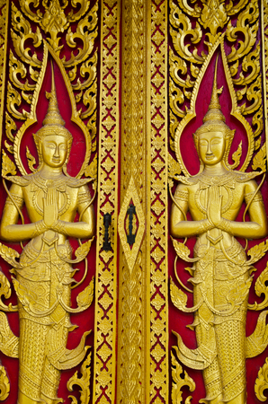 This door is a unique temple in Thailand  Demonstrate the sophistication to do so  To be shared with the general public can visit the beautiful  photo