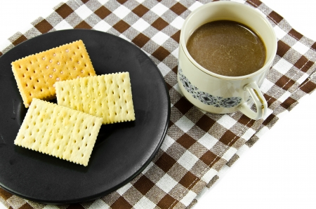 Coffee and biscuit  photo