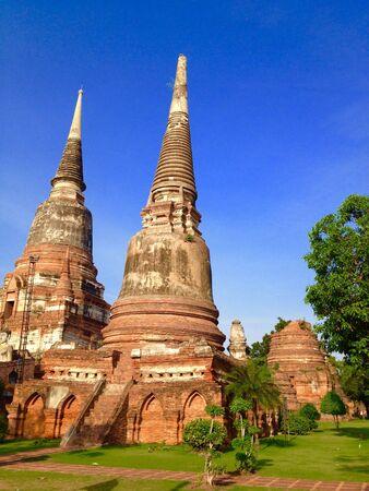 ayuthaya: Old pagoda in Watyai Chaimongkol, Ayuthaya, Thailand.