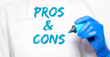 Pros and cons in medical pill prescription and treatment.