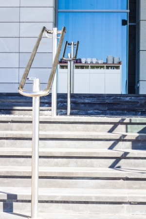 Beautiful stainless steel railings photo