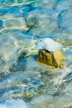 beautiful photo of stones on the bank of the Dead Sea photo