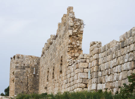 Antipatris fortress built by Herod the Great, located in Israel photo