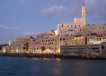 Beautiful photos of the evening Jaffa from the sea  Israel