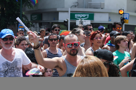 TEL AVIV - JUNE 9 street during Annual Gay Pride Parade June 9, 2013 in Tel Aviv, Israel  photo