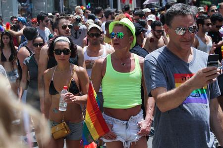 trans gender: TEL AVIV - JUNE 9 street during Annual Gay Pride Parade June 9, 2013 in Tel Aviv, Israel