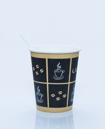 throwaway: Beautiful cardboard disposable cup for coffee and other.