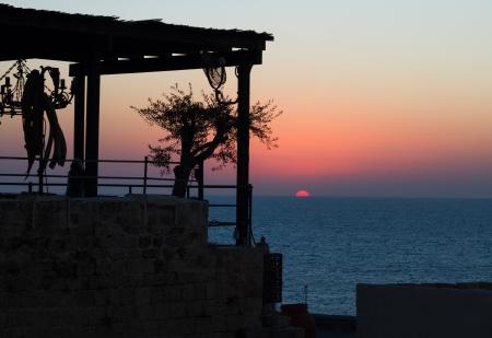 jaffa: Beautiful photo of a sunset in Jaffa. Israel.