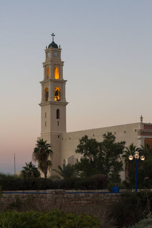 Beautiful photo of the church in old Jaffa. Israel. photo