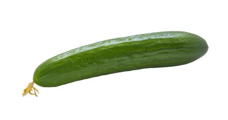 cuke: Beautiful photo of fresh cucumbers isolated on white background .