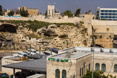 proposed: Garden Tomb in Jerusalem, one of two sites proposed as the place of Jesus burial . Israel