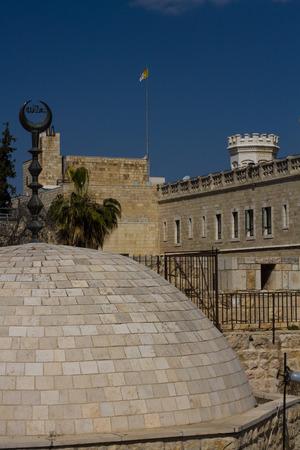 View on the landmarks of Jerusalem Old City, western side   photo