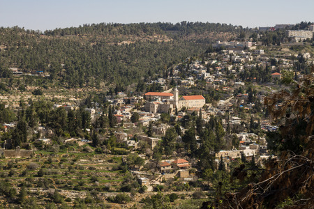 Beautiful photo panorama -  Ein Karem , Jerusalem , Israel  photo