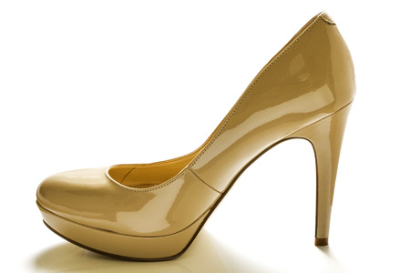 Beautiful photo of female shoes isolated on white background. photo