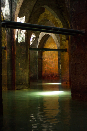 The ancient Pool of the Arches, Ramla, Israel Editorial