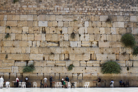 Beautiful photo at the Wailing Wall in the Old City of Jerusalem  Israel