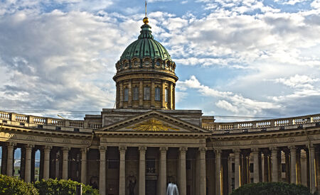 St.Petersburg , Russia - august 17 . 2014: Cathedral of Our Lady of Kazan, Saint Petersburg, Russia