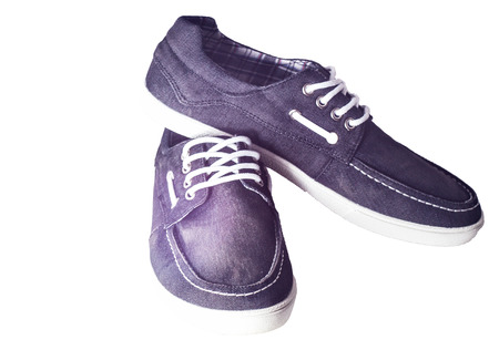 Beautiful photo of male shoes isolated on white background. photo