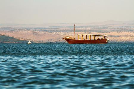 galilee: View of the sea of Galilee (Kineret lake), Israel .