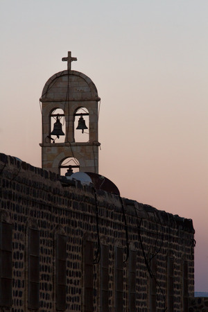 The bells of the church in Tiberias on the shores of Sea of Galilee. Israel. photo