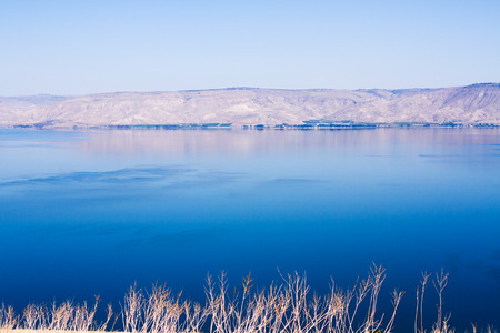 View of the sea of Galilee (Kineret lake), Israel . photo
