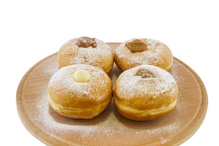 holiday food: Hanukkah doughnuts - Traditional jewish holiday food.