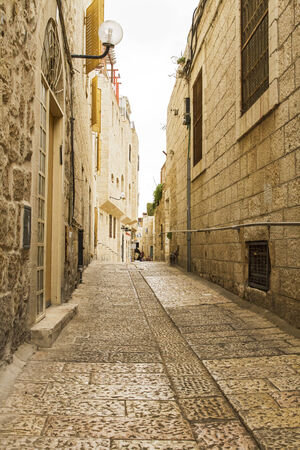 Beautiful photo streets of the Old City of Jerusalem. Israel. photo