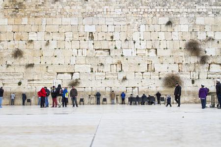 wailing: Jerusalem , Israel - January 06 . 2015 : Beautiful photo at the Wailing Wall in the Old City of Jerusalem. Praying at the Wailing Wall. Israel.