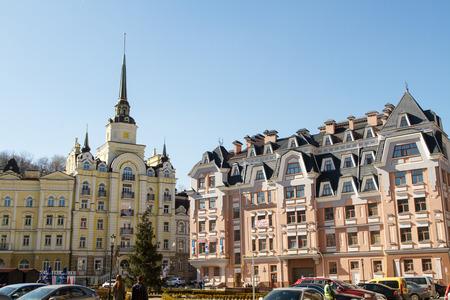 elite: Kiev , Ukraine - March 17, 2015: Vozdvizhenka elite district in Kiev, Ukraine Editorial