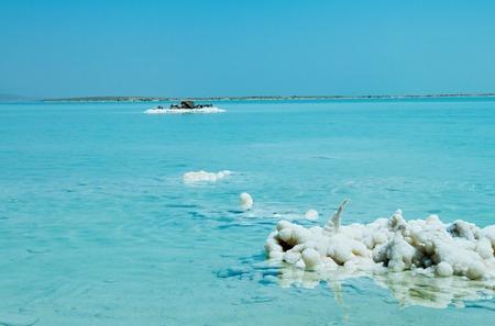 dead: Beautiful photo coast of the Dead Sea , Israel . Bokeh . Stock Photo
