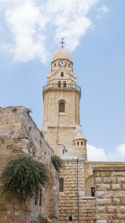 dolorosa: Beautiful photo Abbey of the Dormition  - Jerusalem , Israel . Stock Photo