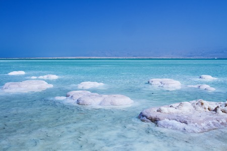 Beautiful photo coast of the Dead Sea , Israel .