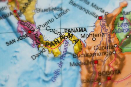 panamanian: Beautiful photo of a map of Panama and the capital Panama .