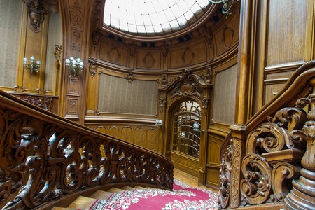 former years: Lviv, Ukraine - 18 February, 2016: House of Scientists - a former national casino (until 1939) built by Fellner and Helmer in the years 1897-1898. February 18, 2016 Lviv, Ukraine.
