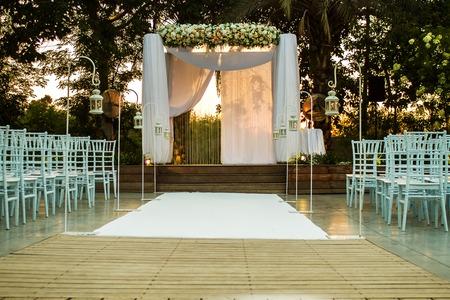 chuppah: Beautiful photo of the Jewish Hupa , wedding putdoor .