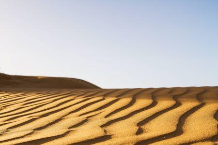 desert sand: Beautiful photo of sand in the desert against the sky.