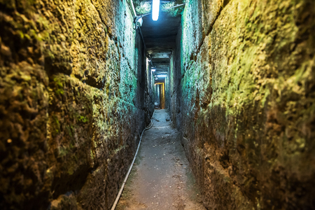 Tunnel that leads from the Shiloah pool to the Temple mount in Jerusalem, it is 600 meters long. It is also called The Herodian road.
