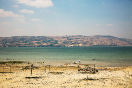 View of the sea of Galilee (Kineret lake), Israel .